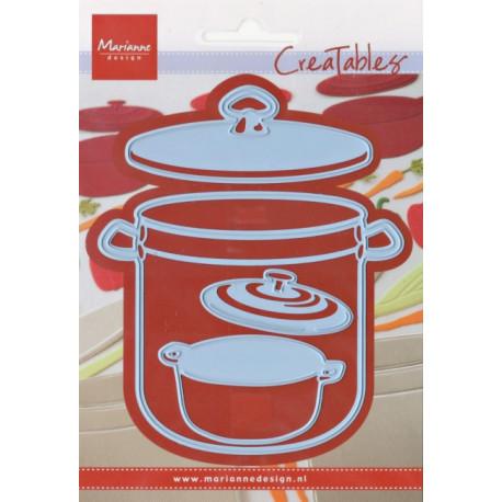 Vyřezávací šablony - Hrnce na vaření (MD)