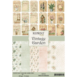 Sada papírů A4 200g Vintage Garden (REPRINT)