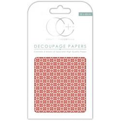 Norský vzor - set 3 papírů pro decoupage CC