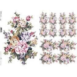 Papír A4 Květinová kompozice ITD