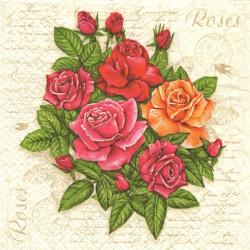 Dopis s růžemi 33x33