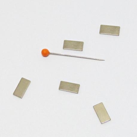 Magnet obdélník 10x5mm/1mm poniklovaný - 5ks