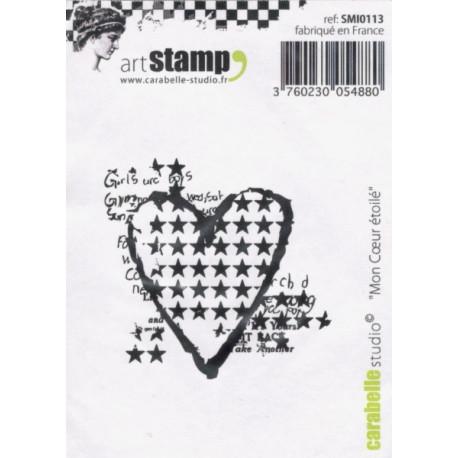 Gumové razítko - Mé hvězdné srdce (artStamp)
