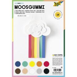 Moosgumi sada Mix barev 20x29cm - 10 listů