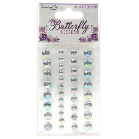Samolepící glitterové kamínky Butterfly Kisses