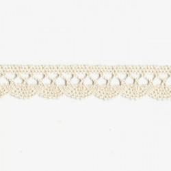 Krajka bavlněná paličkovaná 1,8cm světlá béžová
