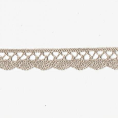 Krajka bavlněná paličkovaná 1,8cm béžová