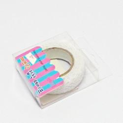 Samolepící krajka textilní - bílá, 16mm, 1,8m
