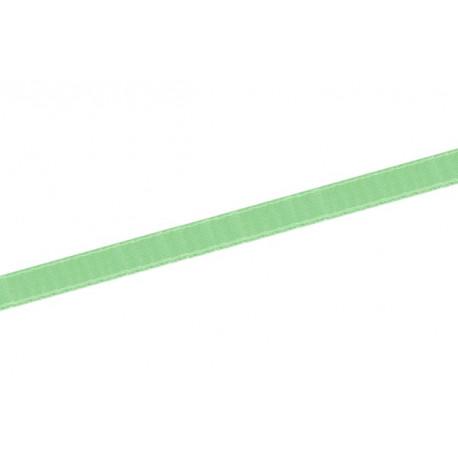 Saténová stuha 6mm - zelená pastelová