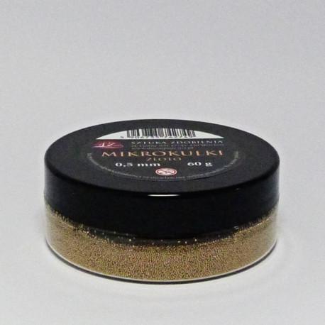 Mikrokuličky 0,5mm, 60g - zlaté