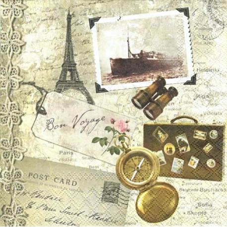 Bon Voyage 33x33