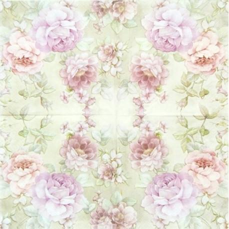 Růže na béžovém 33x33