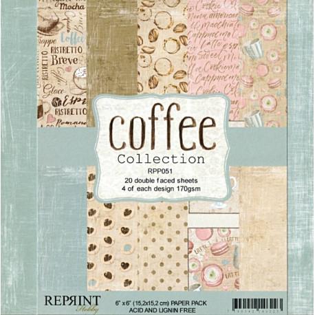 Sada papírů 15x15 170g Coffee (REPRINT)