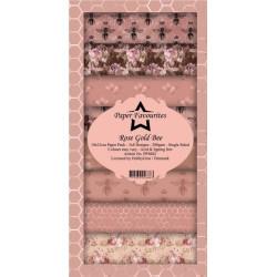 Sada papírů 10x21 Rose Gold Bee (PF)