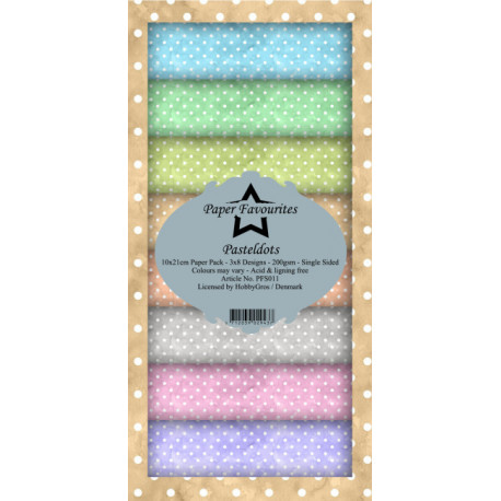 Sada papírů 10x21 Pastel Dots (PF)