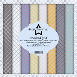 Sada papírů 15x15 Diamond Grid (PF)