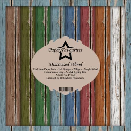Sada papírů 15x15 Distressed Wood (PF)