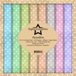 Sada papírů 15x15 Pastel Dots (PF)