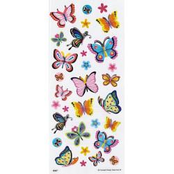 Samolepky 10x23cm - motýlci