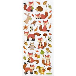 Samolepky 10x23cm - lesní zvířátka