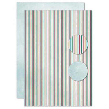 Papír na pozadí A4 - barevné proužky