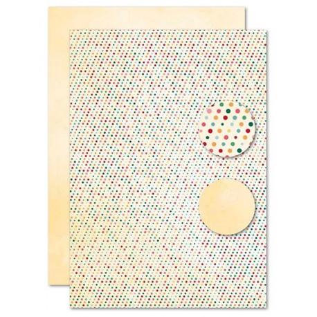 Papír na pozadí A4 - barevné puntíky