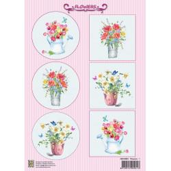 Nellie Vintage A4 - květiny