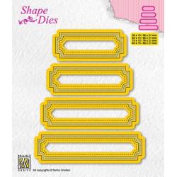 Vyřezávací šablony - Sety čtyř štítků - typ 5 (Shape Dies)