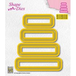 Vyřezávací šablony - Sety čtyř štítků - typ 3 (Shape Dies)
