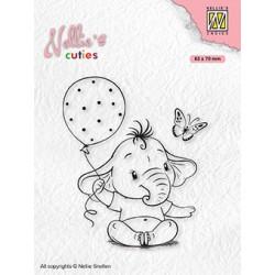 Transp.razítko Nellie´s Cuties - Slůně s balónkem (Nellie´s Choice)