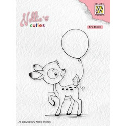 Transp.razítko Nellie´s Cuties - Koloušek s balónkem (Nellie´s Choice)