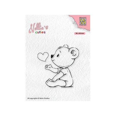 Transp.razítko Nellie´s Cuties - Miluji tě mami (Nellie´s Choice)
