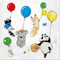 Zvířátka s balónky 33x33
