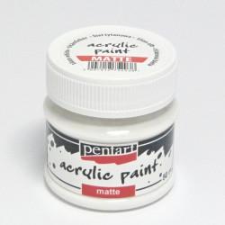 Akrylová barva Pentart 50ml - titanová bílá, matná (35106)