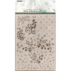 Maskovací šablona A5 Floral Essentials nr.43 (SL)