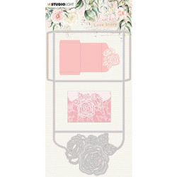 Vyřezávací šablona - Rose envelope Another Love Story nr.3 (SL)