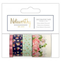 Sada washi pásek Noteworthy Graphic Florals - 4ks