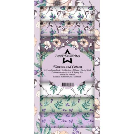 Sada papírů 10x21 Flowers and Cotton (PF)