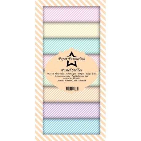 Sada papírů 10x21 Pastel Stribes (PF)