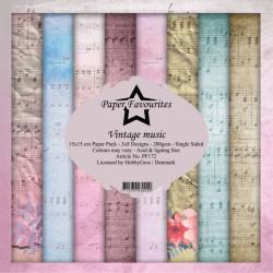 Sada papírů 15x15 Vintage Music (PF)