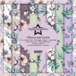 Sada papírů 15x15 Flowers and Cotton (PF)
