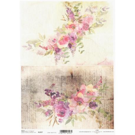 Papír rýžový A4 Akvarel, dva motivy