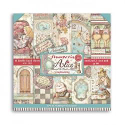 Sada papírů 15,2x15,2 190g Alice Through the Looking Glass