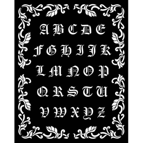 Šablona 3D 20x25 - Sleeping Beauty, gotické písmo (KSTD075)