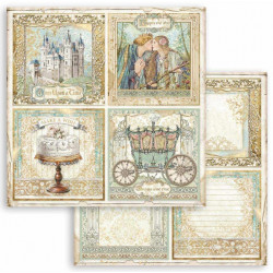 Sleeping Beauty, 4 obrázky 30,5x30,5 scrapbook