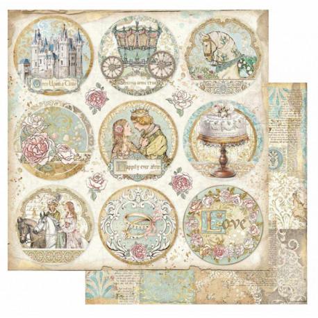 Sleeping Beauty, kulaté obrázky 30,5x30,5 scrapbook