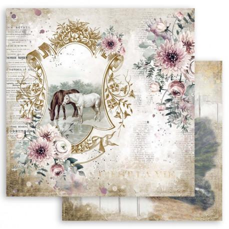 Horses, na pastvě 30,5x30,5 scrapbook