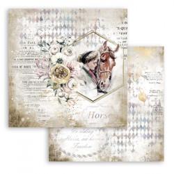 Horses, dívka a kůň 30,5x30,5 scrapbook