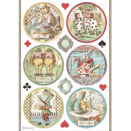 Papír rýžový A4 Alice, 6 kulatých obrázků
