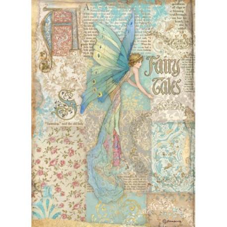 Papír rýžový A4 Sleeping Beauty, víla